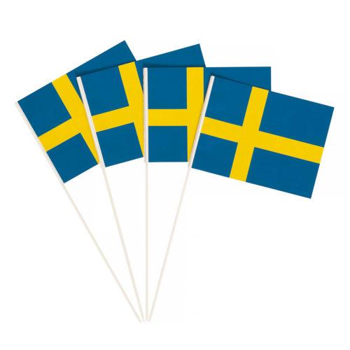 Pappersflagga på plastpinne